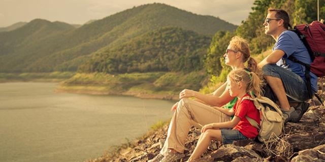 family-hiking
