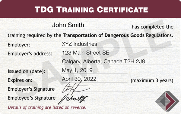 TDG-Certificate-Sample